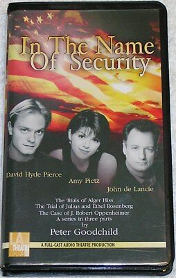 In The Name Of Security by Peter Goodchild, LA Theatre Works Cassette Tape Set