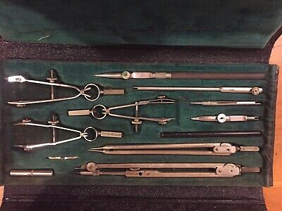 **Vintage** Schoenner Germany Drafting Set Tools Compass Instruments