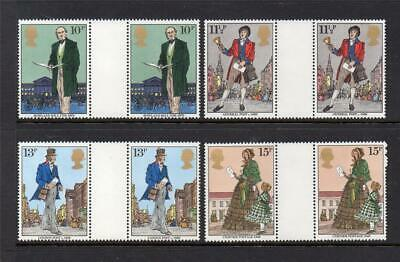 Gb Mnh 1979 Sg1095-1098 Death Centenary Of Sir Rowland Hill Gutter Pairs