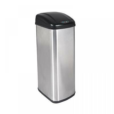 Refurbris13 Gallon Touch-Free Sensor Automatic Stainless-Steel Trash Can Kitchen