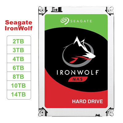 "Seagate IronWolf 2TB 4TB 6TB 8TB 10TB 12TB 14TB 3.5"" Internal NAS HDD Hard Drive"