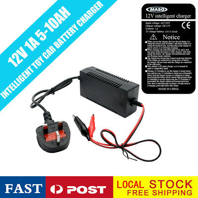 12V 1A Universal Battery Charger for Toy Ride On Cars and Jeeps Kids Toys Quad