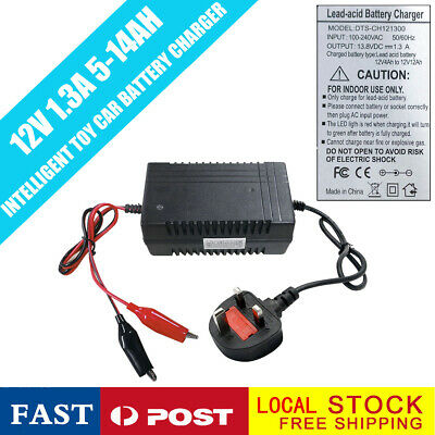 Lead Acid Battery Charger for Kids Toys Motorbikes Quad Bike Toy Car 12V 1.3A UK