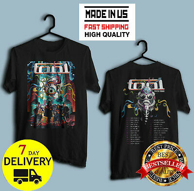 TOOL Band 2019 Tour with dates Men's Black T-Shirt Size M-2XL