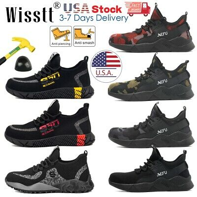 Mens ESD Steel Toe Safety Shoes Work Boots Lightweight Indestructible Sneakers I