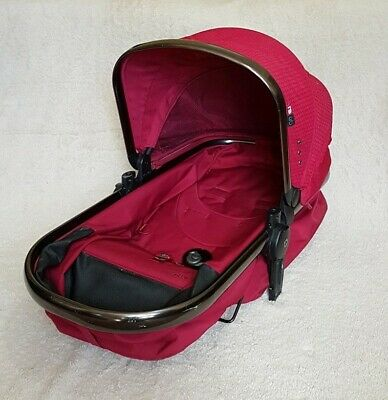 Mothercare Orb Carry Cot Seat Unit In Berry Red with Hood - NO STRAPS