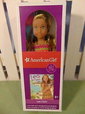 "AMERICAN GIRL Lea Mini Doll 6"" w/mini book Doll of Year NIB in HAND 2 SHIP"