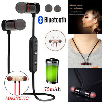Wireless Bluetooth Stereo Earphone Magnetic Headphones Waterproof Sports Headset