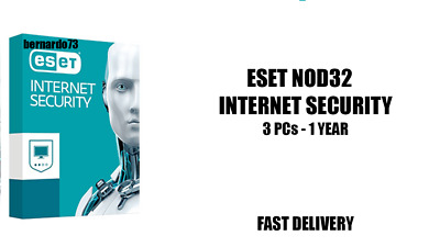 ESET NOD32 Internet Security 2019 3 PCs , 1 Anno, GLOBAL, ESD Antivirus