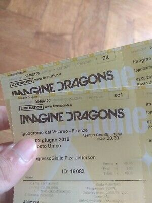 2 Biglietti Concerto Imagine Dragons Firenze 2/06/19