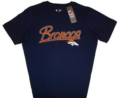 Denver Broncos NFL Tradition Game Day T-Shirt Dark Blue Women's Plus Sizes NWT