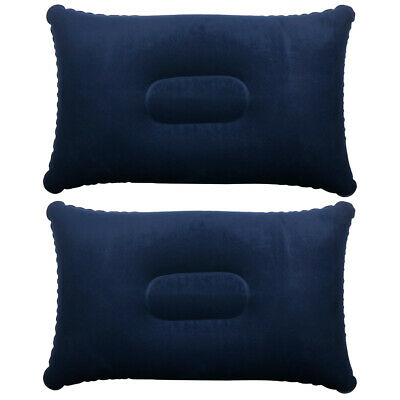 Trixes 2X Azul Inflable Suave Inflable Almohada Viaje