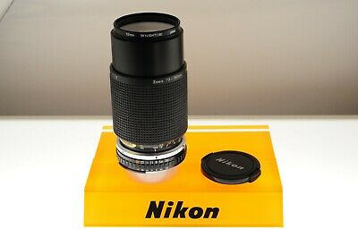 Nikon Series E 75-150mm f/3.5 Ai-s zoom lens. EXC- condition. Lightweight zoom!