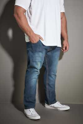 Jp 1880 Mens Big And Tall Washed Straight Leg Jeans