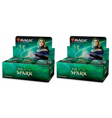 x2 War of the Spark booster boxes Magic the gathering mtg factory sealed English