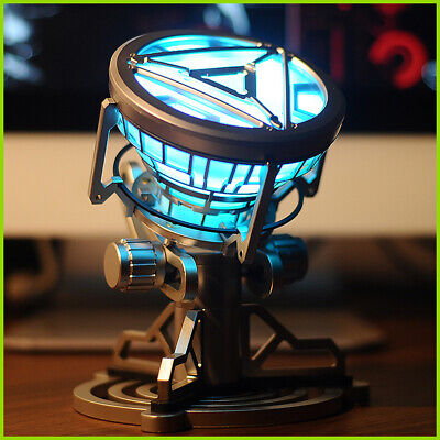 1:1 ARC REACTOR LED Chest Heart Light-up Lamp Movie ABC Props Model Kit Science