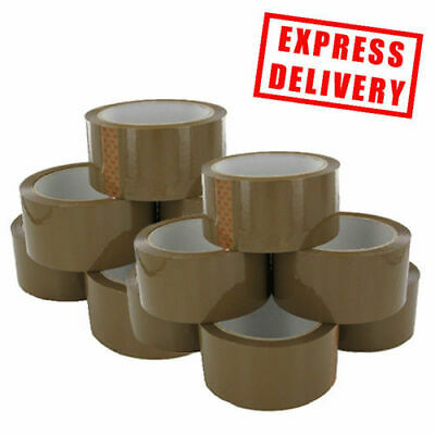 LONG LENGTH PACKING TAPE STRONG - BROWN / CLEAR / FRAGILE 48mm WIDTH PARCEL TAPE