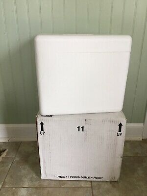 PermaCool Styrofoam Insulated Cooler Shipping 12.25 x 11.75 x 14.25 with box