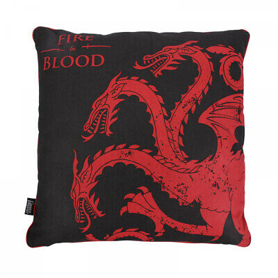 Official Game Of Thrones House Targaryen Fire And Blood Large Filled Cushion