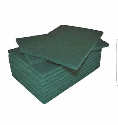 Aardvark Janitorial 10 pack Green Scouring Pads 9 x 6 inch
