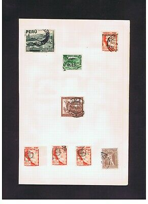 Peru 1943-1950s & early officials MH and used old stamps 6 album pages