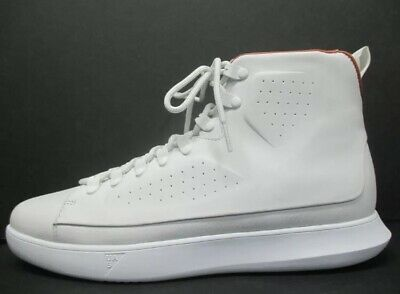 NEW - Under Armour UAS Classic Leather Hi Top Sneakers White 1310041 100 Sz 12