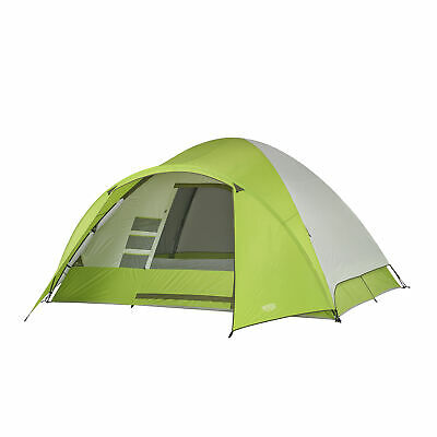 Wenzel Portico 6 10 x 12 Foot 8 Person Family Camping Tent with Rainfly, Green