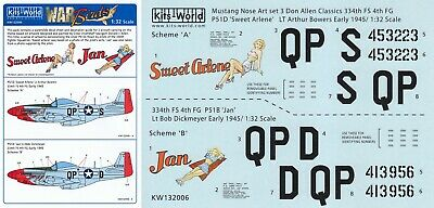 Kits-World Decals 1//32 North-American P-51D Mustang # 32129