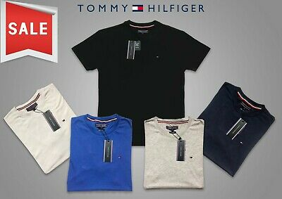 Tommy Hilfiger T Shirt Crew Neck for Men 5 Colours Short Sleeve for Sale