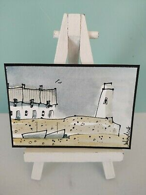 Original Watercolour Painting ACEO - Small Quay