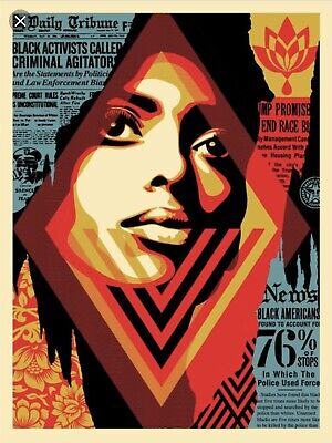 Bias By Numbers : Signed Screen Print : Obey : Shepard Fairey : Limited #/450