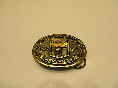 Bass Anglers Sportsman Society 25th Anniversary Belt Buckle