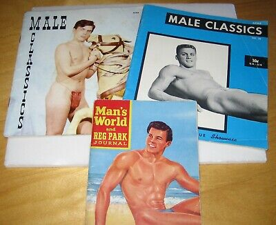 1960's MENS MUSCLES GAY MODEL MAGAZINES x3