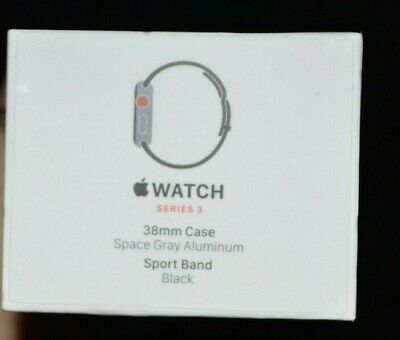Apple Watch Series 3- 38mm Space Gray Aluminum Case Black Sport Band MTGH2LL/A