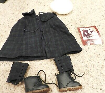 American Girl Samantha's Winter Outfit Cape /Hat Etc….. Euc
