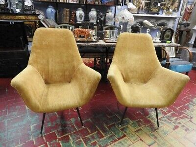 Pair of Chairs 50 Years 60 Modernism Vintage Design