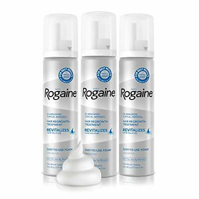 Men's Rogaine 5% Minoxidil Foam for Hair Loss and Hair Regrowth 3-Month Supply