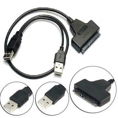 USB 3.0 SATA 7+15Pin to USB 2.0 Adapter Cable For 2.5 HDD Laptop Hard Disk Drive