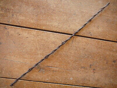 BAKERS FLAT BARELY BARB on SMALL ROUND & LARGE OVAL LINES  - ANTIQUE BARBED WIRE