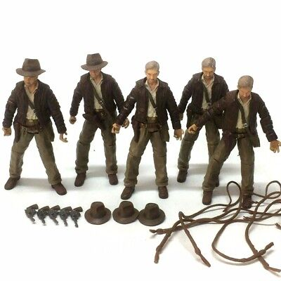 """Lot 5PCS INDIANA JONES 2007 RAIDERS OF LOST ARK 3.75"""" ACTION FIGURE Collect toy"""