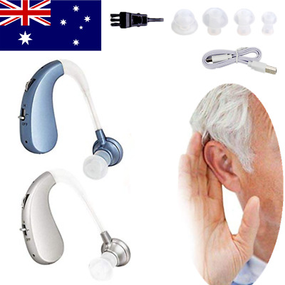 Digital Hearing Aids Behind the Ear BTE Sound Voice Amplifier Rechargeable OZ