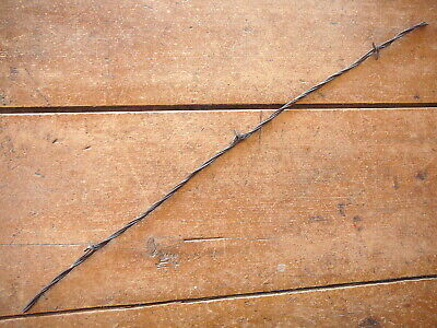 GLIDDENS 4 LINE 3 GAUGES ROUND & HALF RD - BARB on TWO - ANTIQUE BARBED WIRE