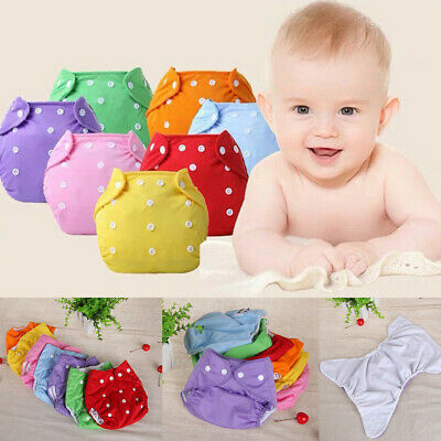 0-24M Infant Baby Boy Girl Kid Reusable Nappies Adjustable Washable Cloth Diaper