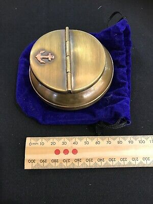 Solid Brass Collectable Ash Tray With Valvet Case