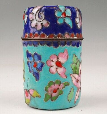 Precious Chinese Cloisonne  Enamel Handmade Toothpick Box Old Collection