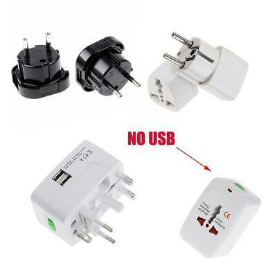 Portable UK US AU to EU European Power Socket Plug Adapter Travel Converter.