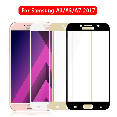 3D For Samsung Galaxy A3 A5 A7 2016/2017 Full Tempered Glass Screen Protector Sy