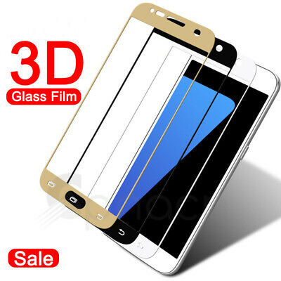 3D For Samsung Galaxy A3 A5 A7 2016/2017 Full Tempered Glass Screen Protector Du