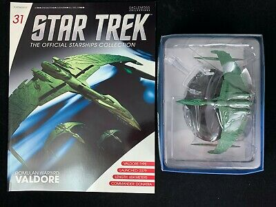 Eaglemoss Star Trek Collection- Starship & Magazine #31-Romulan Warbird Valdore