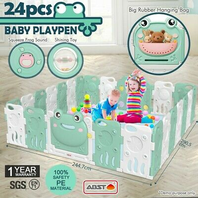 ABST 24 Sided Panel Baby Playpen Interactive Kids Safety Gates Child Barrier
